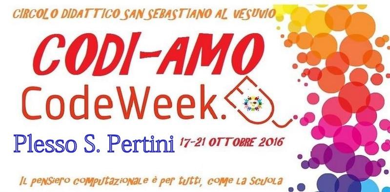 CODI-AMO PERTINI partecipazione alla settimana del CODEWEEK