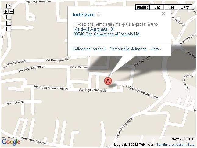 come raggiungerci: mappa dell'indirizzo